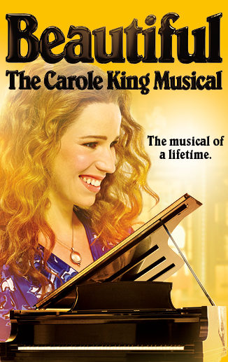 Beautiful the Carole King Musical logo. The musical of a lifetime
