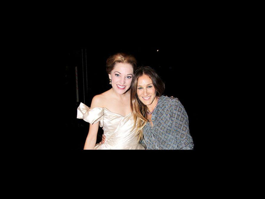 Sarah Jessica Parker and daughters at Cinderella