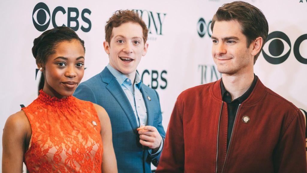 Meet the Nominees - Ethan Slater - Hailey kilgore and Andrew Garfield - Tony Awards - Press Junket - 5/18 - Emilio Madrid-Kuser