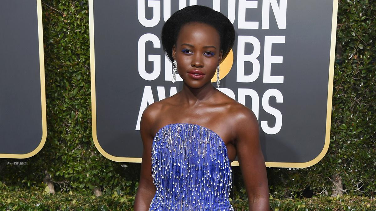 Lupita Nyong'o - Golden Globes - Jon Kopaloff/Getty Images - 1/19