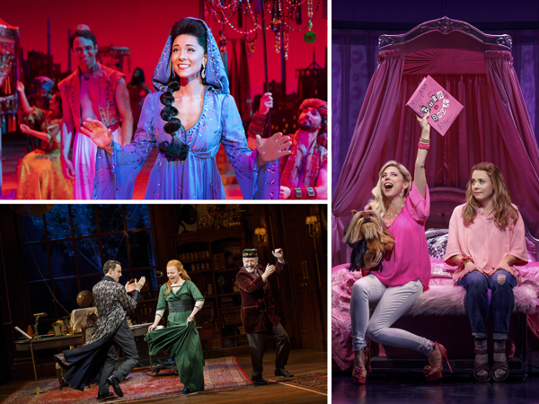 Scenes from Aladdin, My Fair Lady, and Mean Girls